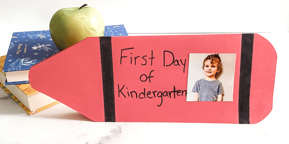 first day of school crayon craft featured